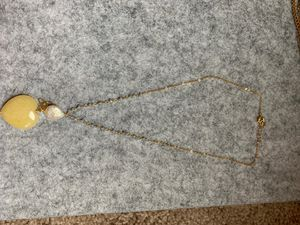 necklace with natural rock and gold plating from Venezuela for Sale in Seattle, WA
