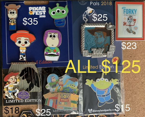 Disney trading pins Toy Story