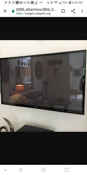 65 Samsung PN64E550D1F 3D SMART High-End Plasma TV for Sale in Puyallup, WA