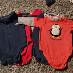 0-3mos Infant Boys Long Sleeve Onesies for Sale in Denver, CO