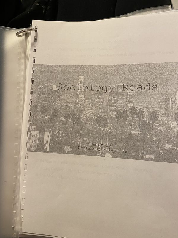 Sociology Reads // Eileen Ie for East Los Angeles college