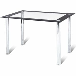 Costway Modern Dining Table Tempered Glass Top Steel Frame Kitchen Breakfast Furniture for Sale in Chula Vista, CA