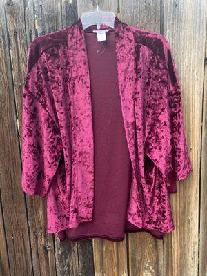 Xl velvet cardigan jacket brand new for Sale in Colorado Springs, CO