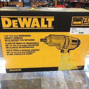 "DeWALT DW292K 1/2"" Heavy-Duty Impact Wrench Driver Tool Kit. NEW for Sale in Lynn, MA"