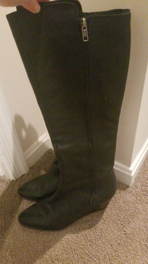 Black leather boots size 9 Made in Brazil for Sale in Alexandria, VA