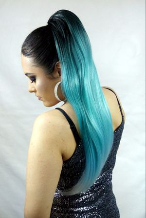 Synthetic Hair Extension Drawstring Ponytail -Pastel Teal- brand new / $30 PICK UP PRICE/ nueva color teal for Sale in Fullerton, CA
