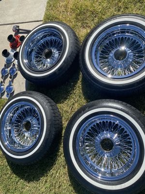14 inch spokes and tires for Sale in Montclair, CA