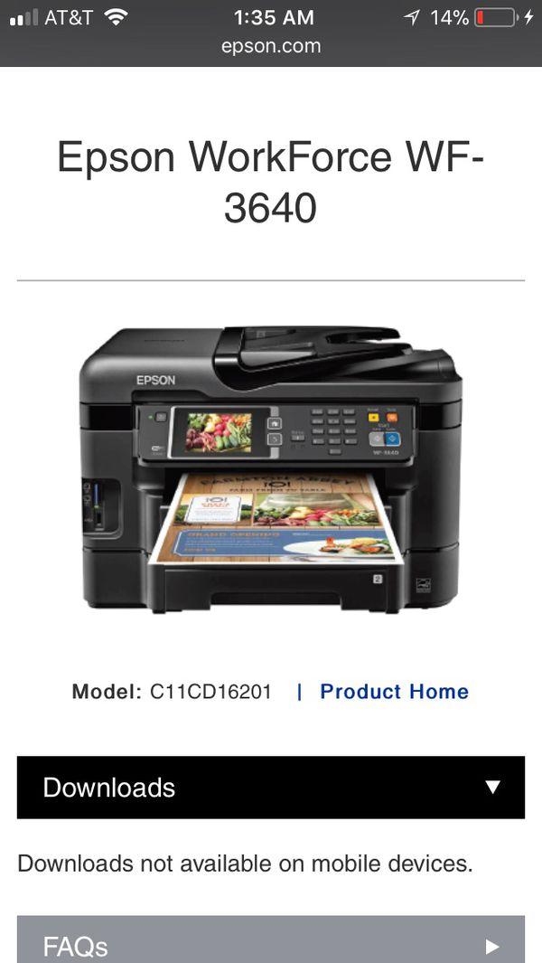 Epson 3640 Not Printing