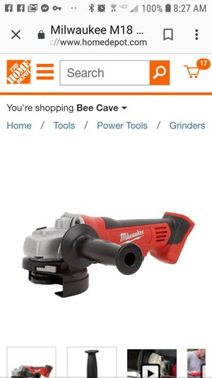 Brand new in box. Milwaukee M18 18-Volt Lithium-Ion Cordless 4-1/2 in. Cut-Off/Grinder (Tool-Only) for Sale in Austin, TX