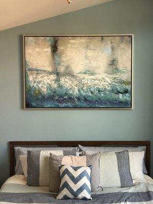 Abstract Oil Painting - Surging Sea for Sale in Mukilteo, WA