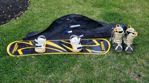 Snowboard, boots and bag for Sale in Littleton, CO