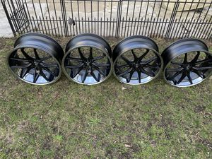 """22"""" LEXANI F1 NEW WHEELS STAGGERED 5X112 BOLT PATTERNVW AUDI MERCEDES BENZ ETC PLEASE READ CAREFULLY for Sale in Hammond, IN"""