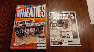 San antonio Spurs 2003 NBA Champions Wheaties Sports Illustrated for Sale in San Antonio, TX