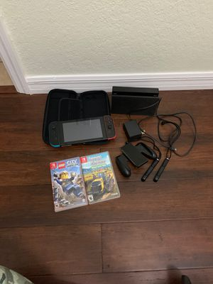 Nintendo switch console games and extras for Sale in Spring Hill, FL