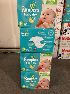 Newborn pampers diapers for Sale in Riverside, CA