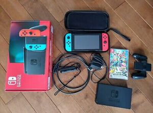 Nintendo switch v2 Neon blue and red joy-cons for Sale in Seattle, WA