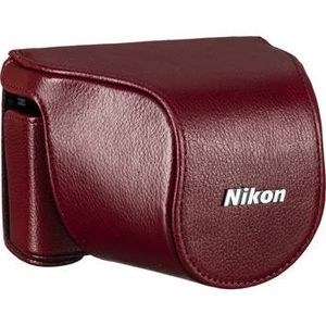 New Nikon Leather Case for Nikon 1 J1-J3 Camera with 10-30mm Lens (Red) for Sale in LA CANADA FLT, CA