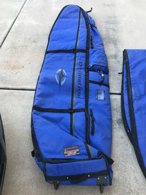 DESTINATION DOUBLE WHEELED COFFIN SURFBOARD TRAVEL BAG for Sale in Scottsdale, AZ