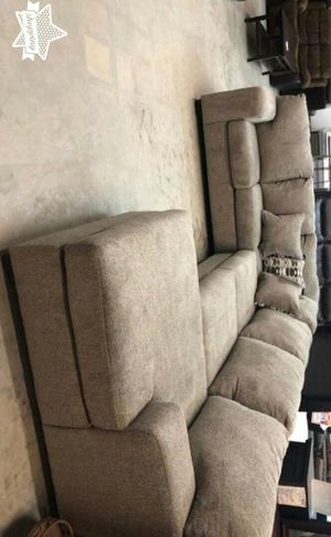 Brand New by Ashley ~ Platinum or Gray Oversized Sectional Sofa / U Shaped Couch ♦️$39 down payment for Sale in Houston, TX