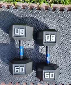 NEW 60lbs Hex Dumbbell weight set (120lbs total) ▪︎FREE DELIVERY ✅✅ ▪︎ for Sale in Hayward,  CA