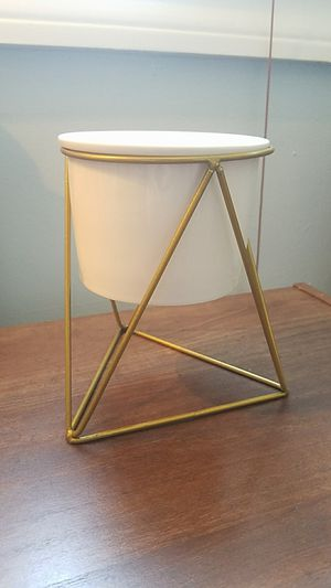 Modern planter with geometric stand for Sale in Quincy, MA