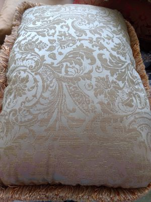 Green gold damask Pillow for Sale in West Palm Beach, FL