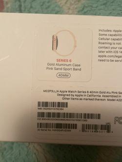 Series 6 Apple Watch Pink Sand 40mm for Sale in Arlington,  VA