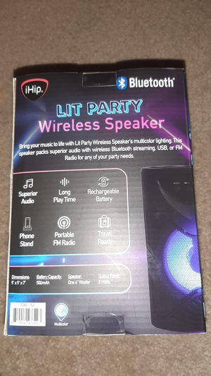 Ihip bluetooth Lit Party wireless speaker for Sale in Hartford, CT