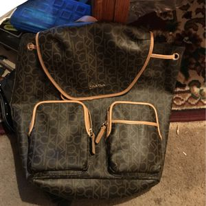 Brand new women's Calvin Klein leather backpack for Sale in Creswell, OR