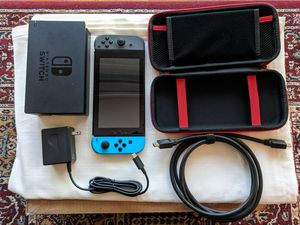 Nintendo Switch - Case, Dock, Charger, 2 Games Downloaded for Sale in Wheaton, MD