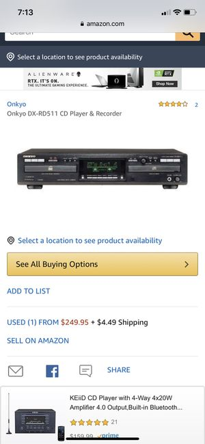 ONKYO Audio cd recorder model DX – RD511 for Sale in Columbus, OH