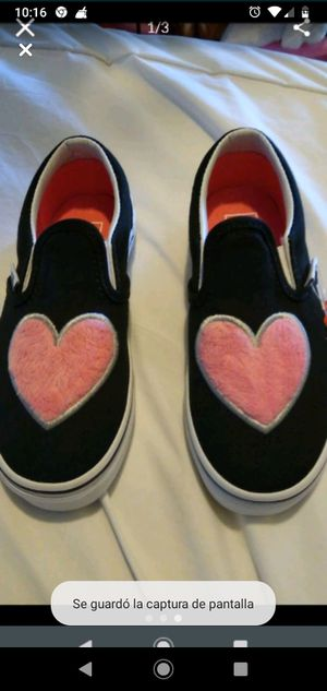 Black Vans with hearts new size 11.5 for Sale in Los Angeles, CA