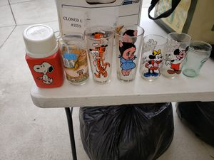 Have some collectable glass cups and themes rare everything for 50 for Sale in Whittier, CA