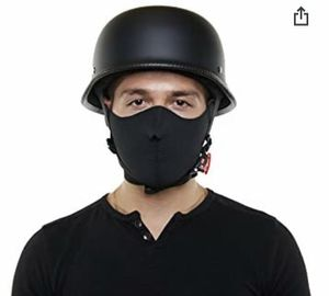 DOT Approved German Style Half Open Face Motorcycle Helmet - Provides Durable Protection - Perfect For Cruiser, Touring, Scooter, Chopper or Harley M for Sale in Queens, NY