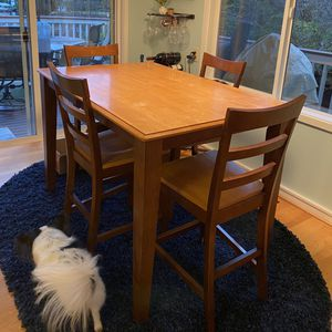 Tall Kitchen Expandable Table W/4 Chairs for Sale in Roy, WA