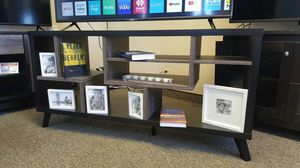 TV Stand up to 70in TVs, Black and Distressed Grey Finish, SKU 161868 for Sale in Garden Grove, CA