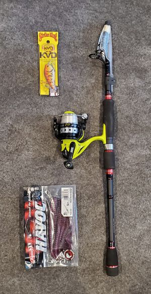 Fishing rod and reel for Sale in Canoga Park, CA