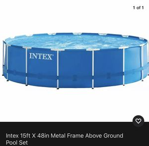 Intex 15ft x 48 inches Metal Frame Above Ground Pool Set for Sale in Atlanta, GA