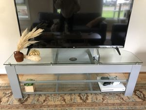 TV Stand - Glass Corner TV Stand - perfect condition! for Sale in Portland, OR