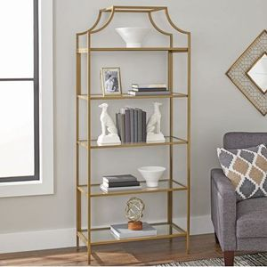 """Better Homes & Gardens 71"""" Nola 5-Tier Etagere Bookcase, Gold Finish: for Sale in Houston, TX"""