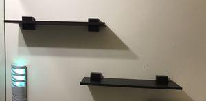 Pair small accent shelves dark brown for Sale in Hialeah, FL