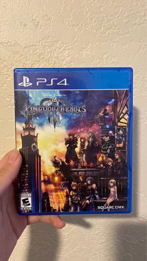 Kingdom Hearts 3 PS4/ Trade for DBZ Kakarot for Sale in Huntington Park, CA