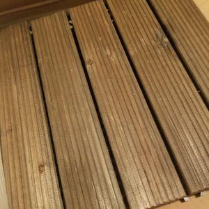 Yaheetech Pack of 27 Wood Flooring Tiles Interlocking Wood Tiles Indoor & Outdoor For Patio Garden Deck Poolside 12''x 12'' for Sale in San Bernardino, CA