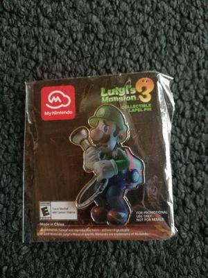 Luigi's Mansion 3 exclusive Nintendo pin. Rare! for Sale in Seattle, WA