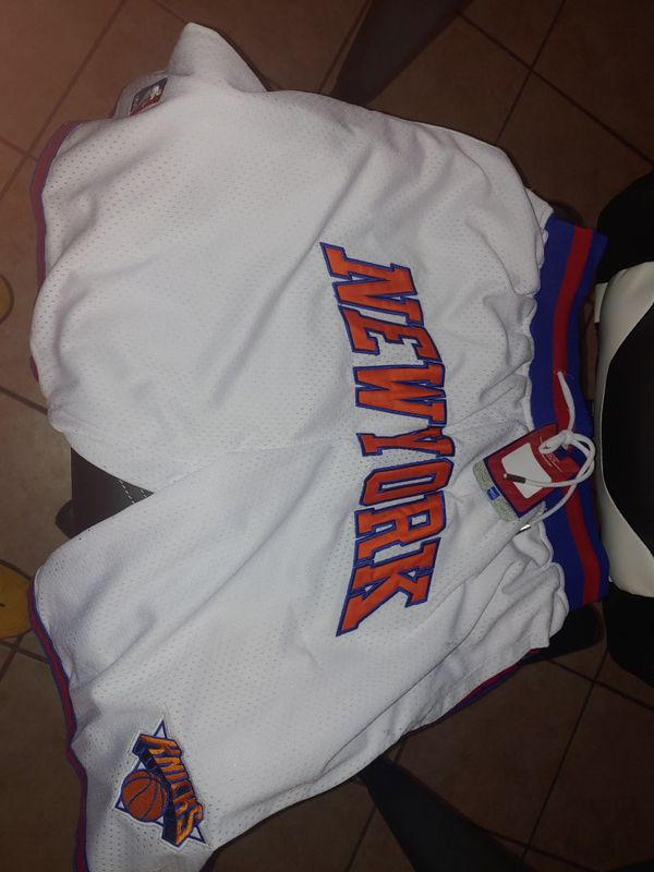 Knicks just don shorts