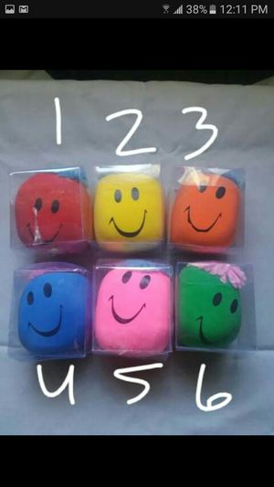 Set of 6 emoji face stress relievers for Sale in Lakeland, FL