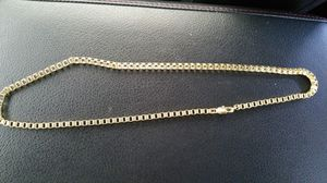 18k Gold Plated Figaro Curb Box Chain for Sale in Smyrna, TN