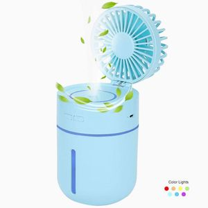 10 hour Misting Fan Personal Handheld Battery Operated Fan Water Spray Humidifier USB Desk Quiet for Office Bedroom Baby Kids Travel Outdoor Blue for Sale in Houston, TX