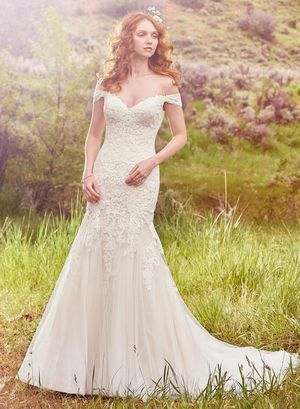 Maggie Sottero Afton Wedding Dress- Size 12- Ivory over Gold for Sale in Aspen Hill, MD