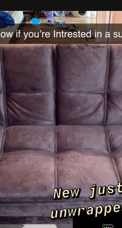 Futon Suede Couch for Sale in Castro Valley,  CA